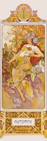 Alphonse Mucha - The Four Seasons II, Autumn, 1896