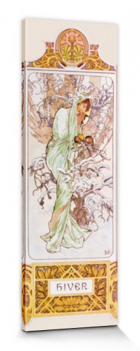 Alphonse Mucha - The Four Seasons II, Winter, 1896