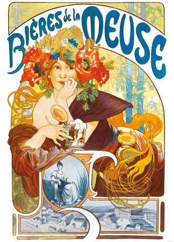 Alphonse Mucha - Beers Of The Meuse, 1897, 2 Parts