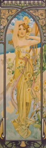 Alphonse Mucha - The Times Of Day, Brightness Of Day, 1899, 1 Part