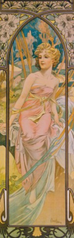 Alphonse Mucha - The Times Of Day, Morning Awakening, 1899, 1 Part