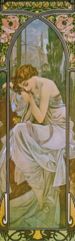 Alphonse Mucha - The Times Of Day, Night's Rest, 1899, 1 Part