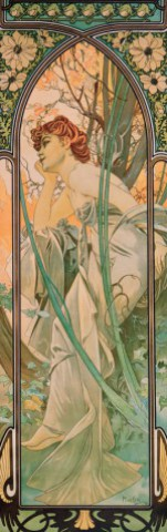 Alphonse Mucha - The Times Of Day, Evening Contemplation, 1899, 1 Part