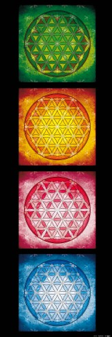 Mandalas - The Flower Of Life, The Four Elements