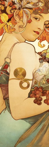 Alphonse Mucha - Fruits, 1897