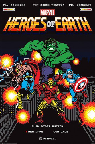 Marvel Comics - Heroes Of Earth, The Avengers As Video Game Characters