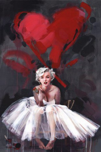 Marilyn Monroe - Painting, Heart, James Paterson