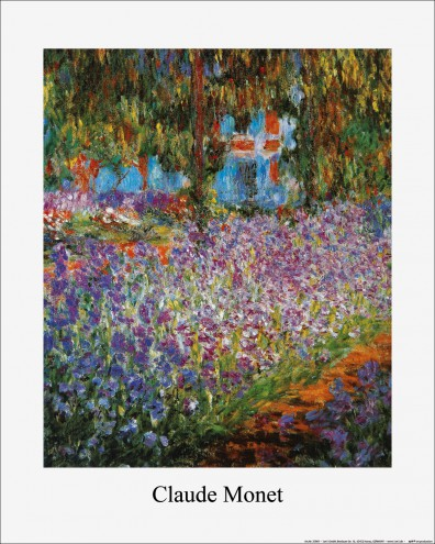 claude monet der garten von monet in giverny kunstdrucke online im shop von 1art1 kaufen. Black Bedroom Furniture Sets. Home Design Ideas
