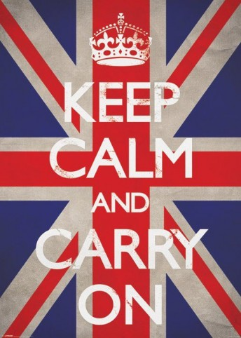 motivation keep calm and carry on union jack poster g ant acheter des posters sur le site. Black Bedroom Furniture Sets. Home Design Ideas