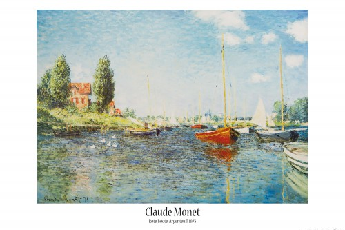 claude monet poster plastic frame yellow 36x24inches af1ze ebay. Black Bedroom Furniture Sets. Home Design Ideas