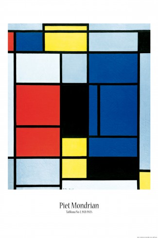 piet mondrian tableau no i 1921 1925 poster online im shop von 1art1 kaufen. Black Bedroom Furniture Sets. Home Design Ideas