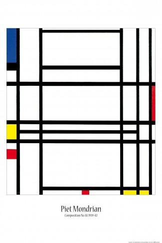 piet mondrian komposition no 10 1939 42 poster online im shop von 1art1 kaufen. Black Bedroom Furniture Sets. Home Design Ideas
