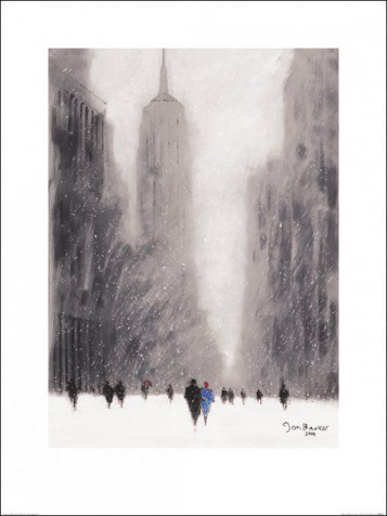 New York - Heavy Snowfall, 5th Avenue, Jon Barker