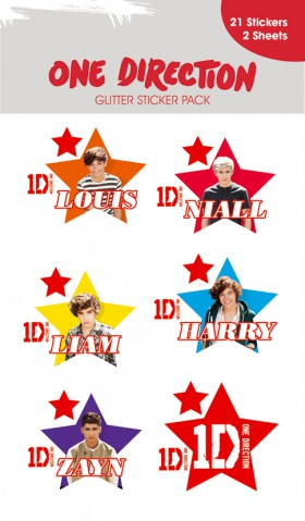 One Direction - Stars, 21 Stickers