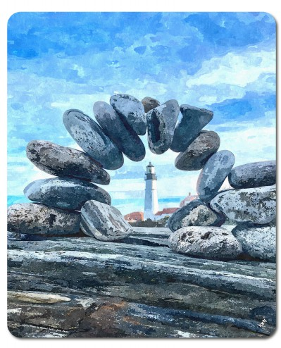 Pebbles - Lighthouse And Zen Stones