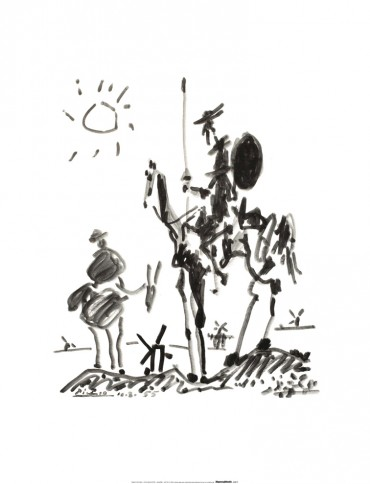 Pablo Picasso - Don Quichotte, 1955