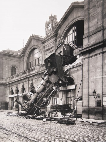 Trains - Train Wreck At Montparnasse Station, Paris, France, 1895
