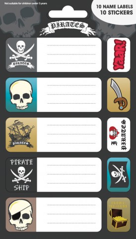 Pirates - Symbols, 10 Stickers