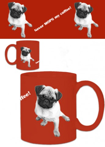 Dogs - Never Mops My Coffee, Red