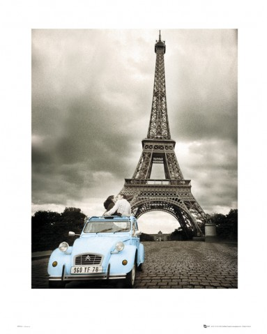 paris romance sous la tour eiffel reproductions acheter des posters sur le site de 1art1. Black Bedroom Furniture Sets. Home Design Ideas