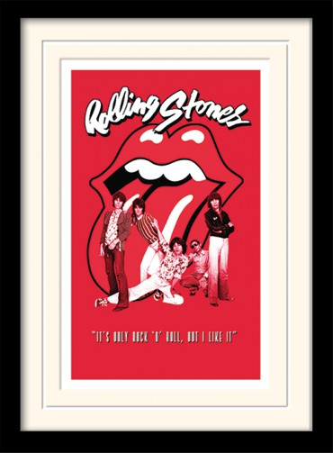 Rolling Stones It 180 S Only Rock N Roll Framed Collector