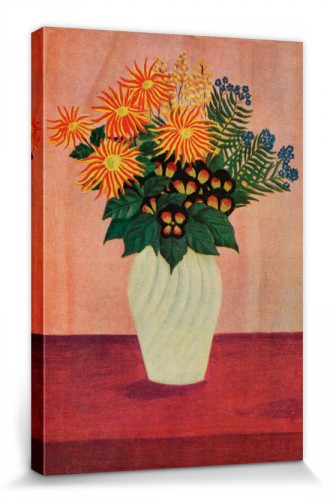 Henri Rousseau Flowers In A Vase 1910 Stretched