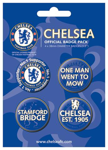 Fußball - F.C Chelsea, Supporter, 4 X 38mm Buttons