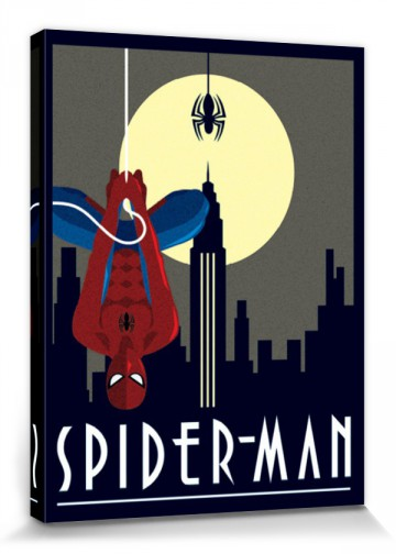 Spider-Man - Hanging Upside Down, Marvel Comics, Art Deco