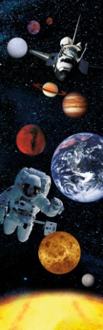 Space And Universe - Planets, Astronaut And Space Shuttle, 1 Part