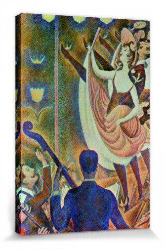 Georges Seurat Can Can Le Chahut Stretched Canvas