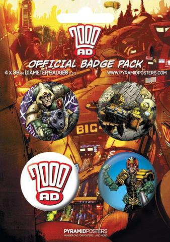 2000 AD - 4 X 38mm Buttons