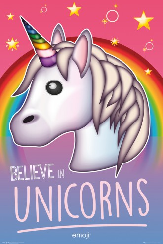 Einhörner - Emoji, Believe In Unicorns