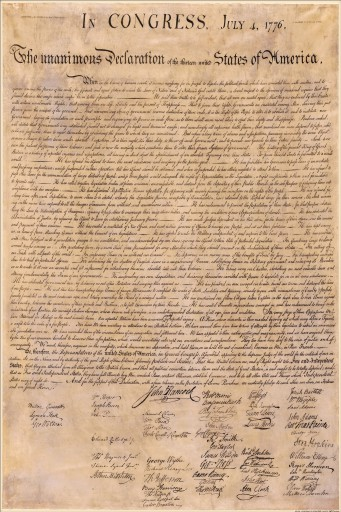 USA - The Declaration Of Independence, July 4, 1776