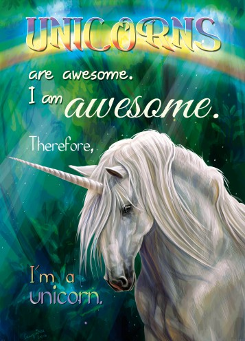 Einhörner - Unicorns Are Awesome, I Am Awesome, Therefore I Am A Unicorn, 2-Teilig
