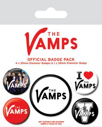 The Vamps - Can We Dance, Collection, 1 X 38mm & 4 X 25mm Buttons