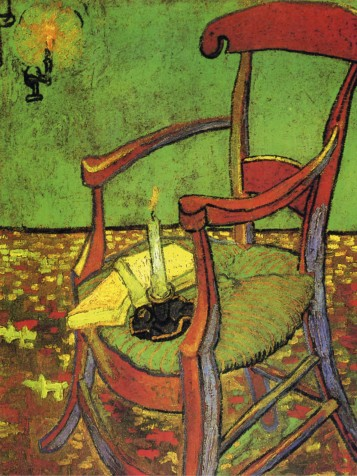 Vincent Van Gogh Gauguin S Chair In Arles With Books And