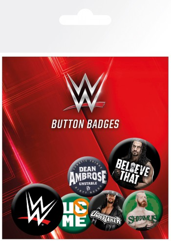 Le Catch - WWE, Logos, 4 X 25mm & 2 X 32mm Badges