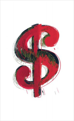 Andy Warhol - Dollar Sign, 1981 (red