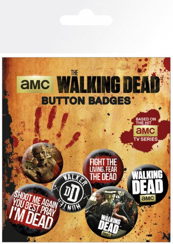 The Walking Dead - Phrases, 4 X 25mm & 2 X 32mm Badges
