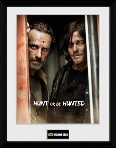 the walking dead rick and daryl sammler poster. Black Bedroom Furniture Sets. Home Design Ideas