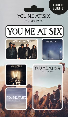 You Me At Six - Mix, 12 Stickers