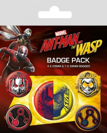 Ant-Man - And The Wasp, 1 X 38mm & 4 X 25mm Badges