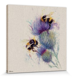Bienen - Bees On Thistle, Jane Bannon