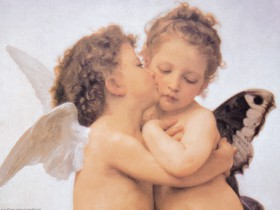 William-Adolphe Bouguereau - The First Kiss (b)