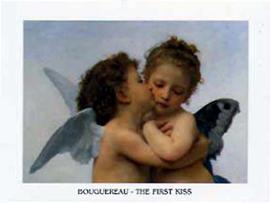William-Adolphe Bouguereau - The First Kiss (detail)