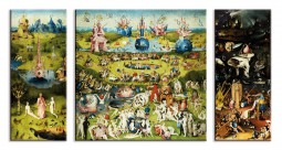 Hieronymus Bosch - The Garden Of Earthly Delights, 1500, 3 Parts