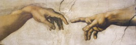 Michelangelo Buonarroti - The Creation Of Adam, Detail, 1508 - 1512, 1 Part