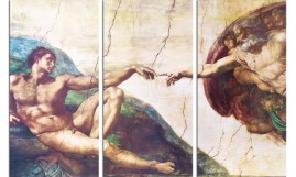 Michelangelo Buonarroti - The Creation Of Adam, 1508-1512, 3 Parts