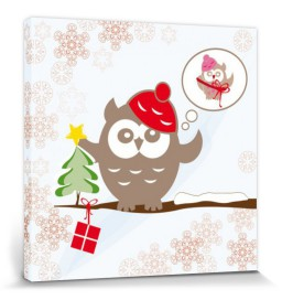 Christmas - Little Mister Owl Wishes For A Pretty Gift