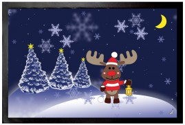Christmas - Rudolph The Reindeer On A Magic Winter Night